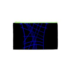 Neon Blue Abstraction Cosmetic Bag (xs) by Valentinaart