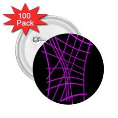 Neon Purple Abstraction 2 25  Buttons (100 Pack)  by Valentinaart