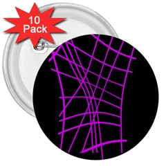 Neon Purple Abstraction 3  Buttons (10 Pack)  by Valentinaart