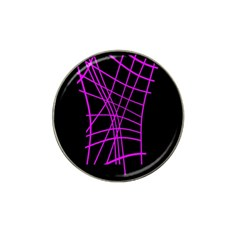 Neon Purple Abstraction Hat Clip Ball Marker by Valentinaart