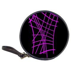 Neon Purple Abstraction Classic 20 Cd Wallets by Valentinaart