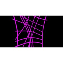 Neon Purple Abstraction You Are Invited 3d Greeting Card (8x4)  by Valentinaart