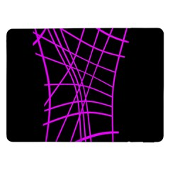 Neon Purple Abstraction Samsung Galaxy Tab Pro 12 2  Flip Case by Valentinaart