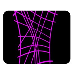 Neon Purple Abstraction Double Sided Flano Blanket (large)  by Valentinaart