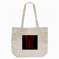Neon Red Abstraction Tote Bag (cream) by Valentinaart