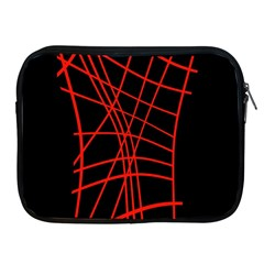 Neon Red Abstraction Apple Ipad 2/3/4 Zipper Cases by Valentinaart