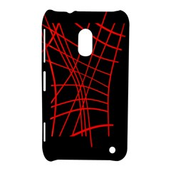 Neon red abstraction Nokia Lumia 620 by Valentinaart