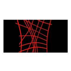 Neon Red Abstraction Satin Shawl by Valentinaart