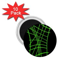 Green Neon Abstraction 1 75  Magnets (10 Pack)  by Valentinaart