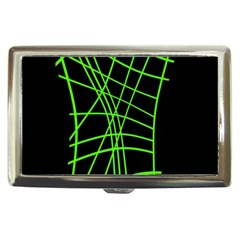Green Neon Abstraction Cigarette Money Cases
