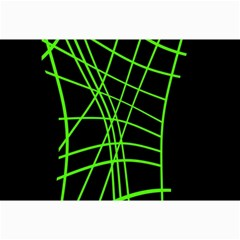 Green Neon Abstraction Collage Prints by Valentinaart
