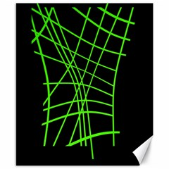 Green Neon Abstraction Canvas 8  X 10  by Valentinaart