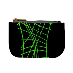 Green Neon Abstraction Mini Coin Purses by Valentinaart