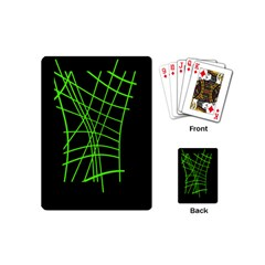 Green Neon Abstraction Playing Cards (mini)  by Valentinaart