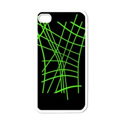 Green Neon Abstraction Apple Iphone 4 Case (white) by Valentinaart