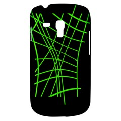 Green Neon Abstraction Samsung Galaxy S3 Mini I8190 Hardshell Case by Valentinaart