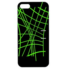 Green Neon Abstraction Apple Iphone 5 Hardshell Case With Stand by Valentinaart