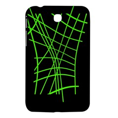 Green Neon Abstraction Samsung Galaxy Tab 3 (7 ) P3200 Hardshell Case  by Valentinaart
