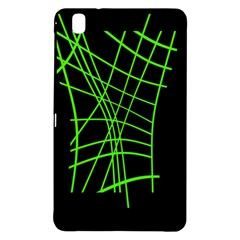 Green Neon Abstraction Samsung Galaxy Tab Pro 8 4 Hardshell Case by Valentinaart