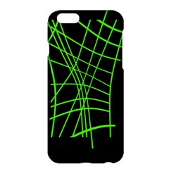 Green Neon Abstraction Apple Iphone 6 Plus/6s Plus Hardshell Case by Valentinaart