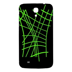 Green Neon Abstraction Samsung Galaxy Mega I9200 Hardshell Back Case by Valentinaart