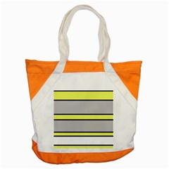 Yellow And Gray Lines Accent Tote Bag by Valentinaart