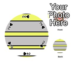 Yellow And Gray Lines Playing Cards 54 (round)