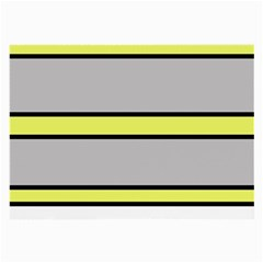 Yellow And Gray Lines Large Glasses Cloth by Valentinaart