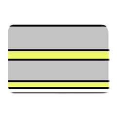 Yellow And Gray Lines Plate Mats by Valentinaart