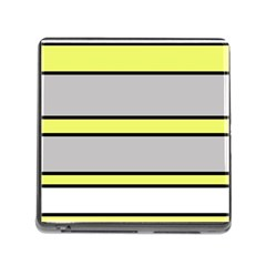 Yellow and gray lines Memory Card Reader (Square)