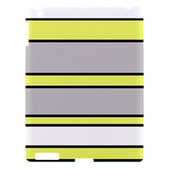 Yellow And Gray Lines Apple Ipad 3/4 Hardshell Case by Valentinaart