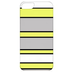 Yellow And Gray Lines Apple Iphone 5 Classic Hardshell Case by Valentinaart