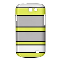 Yellow and gray lines Samsung Galaxy Express I8730 Hardshell Case  by Valentinaart