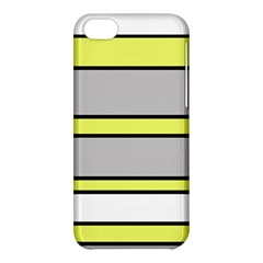Yellow And Gray Lines Apple Iphone 5c Hardshell Case by Valentinaart