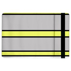 Yellow And Gray Lines Ipad Air 2 Flip by Valentinaart