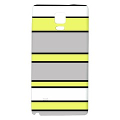 Yellow And Gray Lines Galaxy Note 4 Back Case by Valentinaart