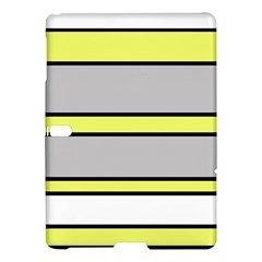 Yellow And Gray Lines Samsung Galaxy Tab S (10 5 ) Hardshell Case  by Valentinaart