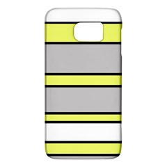 Yellow And Gray Lines Galaxy S6 by Valentinaart