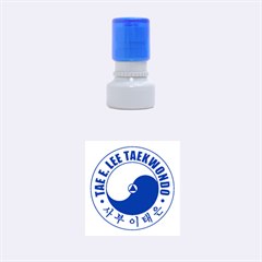 Taeeleestamp Blue Small Small Rubber Stamp (round)