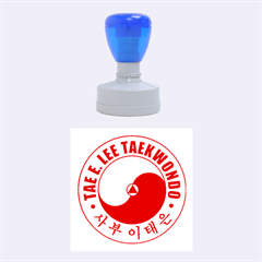 Taeeleestamp Red Medium Medium Rubber Stamp (round) by BankStreet