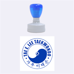TaeELeeStamp-blue-medium Medium Rubber Stamp (Round) by BankStreet