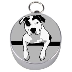 Pit Bull T Bone Silver Compasses by ButThePitBull