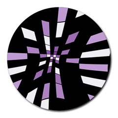 Purple Abstraction Round Mousepads by Valentinaart