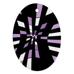 Purple Abstraction Ornament (oval)  by Valentinaart