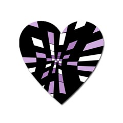 Purple Abstraction Heart Magnet by Valentinaart