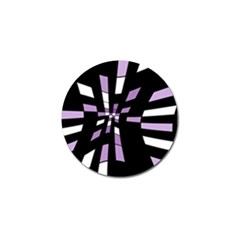 Purple Abstraction Golf Ball Marker by Valentinaart