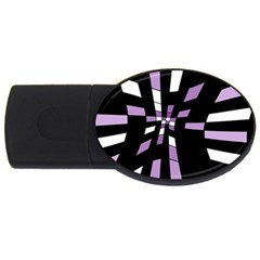 Purple Abstraction Usb Flash Drive Oval (2 Gb)  by Valentinaart