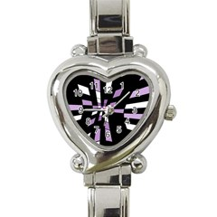 Purple Abstraction Heart Italian Charm Watch by Valentinaart