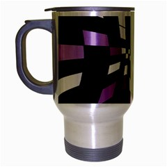 Purple Abstraction Travel Mug (silver Gray) by Valentinaart