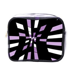 Purple Abstraction Mini Toiletries Bags by Valentinaart